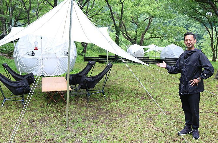 期間限定のキャンプ場を企画した木原さん