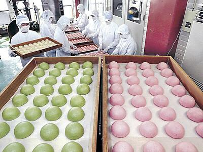 氷室まんじゅう、夏の香り 金沢で製造ピーク