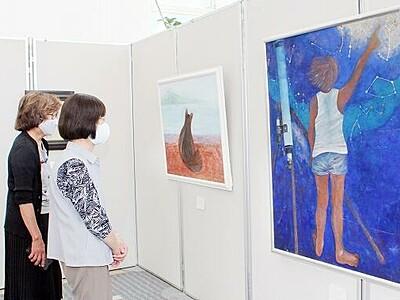 優しい色合い、「萌の会」日本画作品展 福井新聞社・風の森ギャラリーで開催