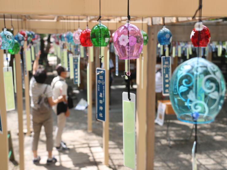 風に揺られて涼しげな音を鳴らす真田神社の風鈴