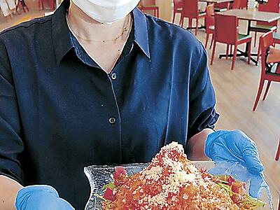 白山産トマトで冷麺 道の駅「風土ぴあ」で提供開始
