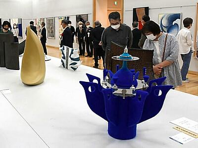 多様な素材と技術、個性豊かに 安曇野・豊科近代美術館で展示