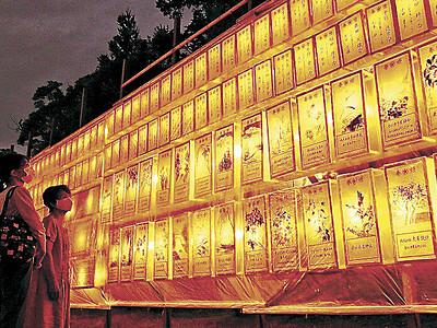 戦没者を追悼 石川護國神社で万灯みたままつり始まる