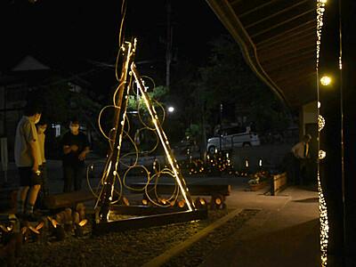 温泉街、幻想的な竹明かり 湯田中温泉でイベント始まる