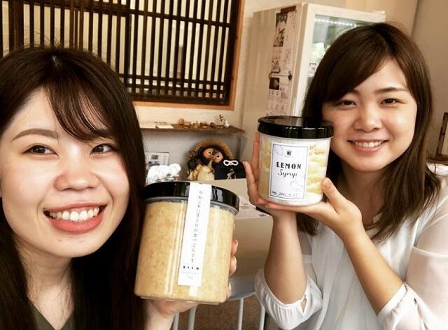 三七味噌で手作りできる味噌やレモンシロップ=福井県福井市つくも2丁目