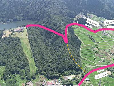 ハート形の北竜湖に続く道「ハートライン」 飯山拠点の機構が愛称