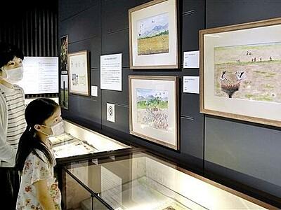 加古里子さん絵本原画など155点 福井県ふるさと文学館