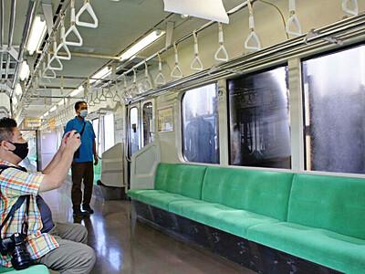 電車の洗車 中から体験 上越 直江津D51レールパーク