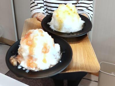地元産の桃と梅 ふわふわかき氷で 田上町 道の駅たがみ