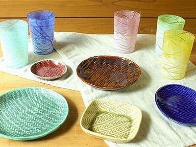 陶芸やガラス作品いかが 金津創作の森2工房が販売