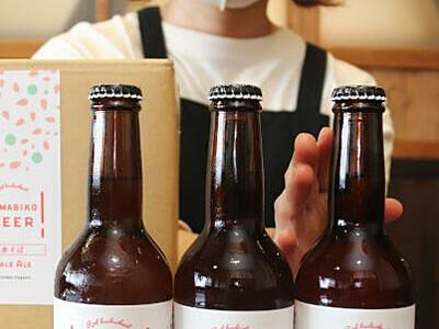クラフトビール、ほのかに赤ソバ 箕輪の飲食店「町の新名物に」