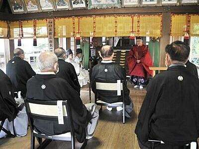 福井県無形民俗文化財「放生祭」粛々と 巡行2年連続中止