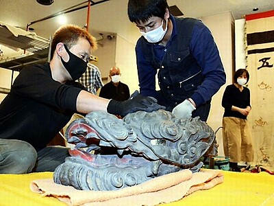 「宝船」修復に向け解体 松本市重文、新市立博物館で展示へ