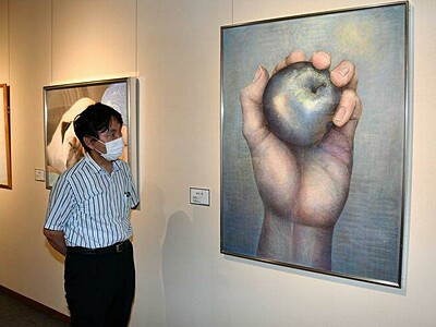 信州新町美術館で美術展 パステル画など38点