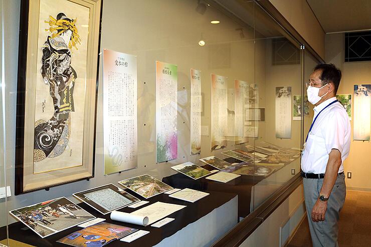 黒部市内に伝わる伝説や昔話を紹介している特別展