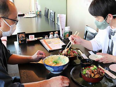 「鯉丼」新たな味で復活 閉店した佐久のコイ料理店名物