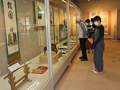 幕末の剣豪の生涯たどる 氷見市博物館で斎藤弥九郎展