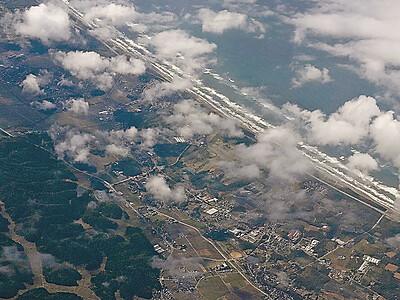 千里浜、白山、機内の旅 小松空港開港60周年記念
