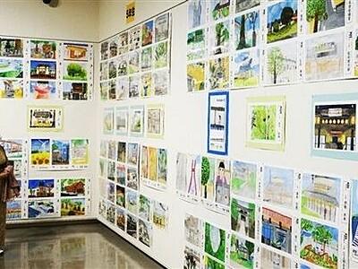 福井県あわらの魅力を児童図画で表現 金津創作の森で展示