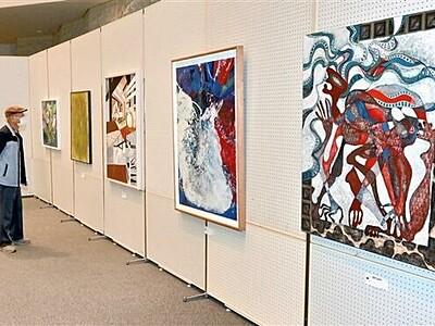 敦賀市民文化祭が開幕 絵画や書など710点一堂に