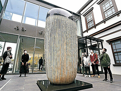 工芸館移転から1年 シンボルの陶特別公開