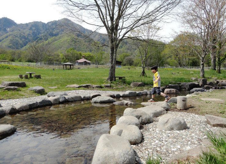 戸隠キャンプ場の親水公園