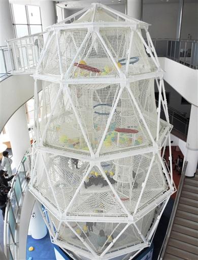 日本最大級の繭型ネット遊具
